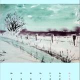Winter im Bodetal, 2011 Aquarell, 48x36