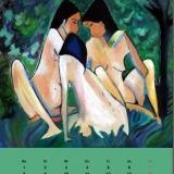 3 Mädchen im Wald, 2012 (nach Otto Müller), Acryll, 80x60