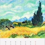 Weizenfeld mit Zypressen,(nach Vincent van Gogh), Öl, 70x50