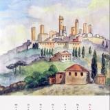 San Gimignano, 2005, Fineliner/Aquarell, 21x30
