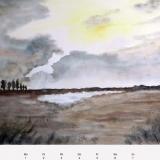 Wolkendurchbruch, 2010, Aquarell, 48x36