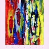 Menschen rot/gelb, 2014,Actyl, 30x40