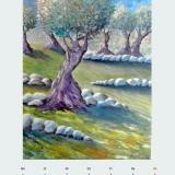 Olivenhain, 2009,Aquarell, 60x80
