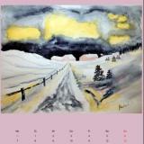 Winter im Gebirge, 2014,Aquarell, 50x40