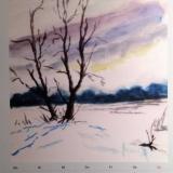 Winter im Cuxland II, Aquarell, 27x35