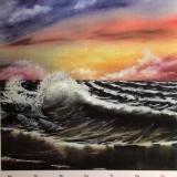 Wellenschlag, 2008, Bob Ross, 50x60