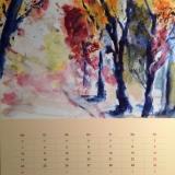 Herbstwald, 2014, Aquarell, 35x27