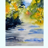 Sommer am Bach, 2016, Aquarell, 21x30