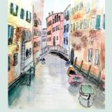Venedig, 2010, Fineliner/Aquarell, 20x28