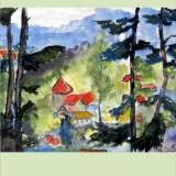 Durchblick, 2011, Aquarell, 34x26