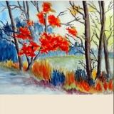 Herbstwald, 2014, Aquarell, 34x26