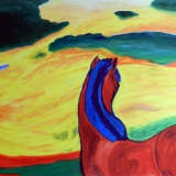 07-2012_Pferd-in-der-Landschaft_nach-Marc