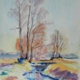 Herbst am Bach, 2014Aquarell, 30x40