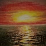 Sonnenuntergang in Wremen, 2003