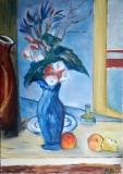 Blaue Vase (nach Cezanne),  2008